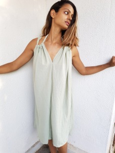Mint slip dress