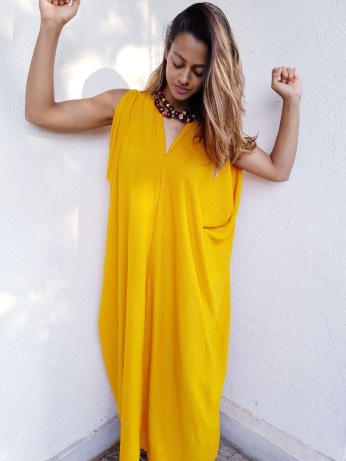 Tumeric kimono dress - SOLD OUT