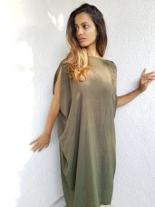 Olive Asymmetric dress - SOLD OUT